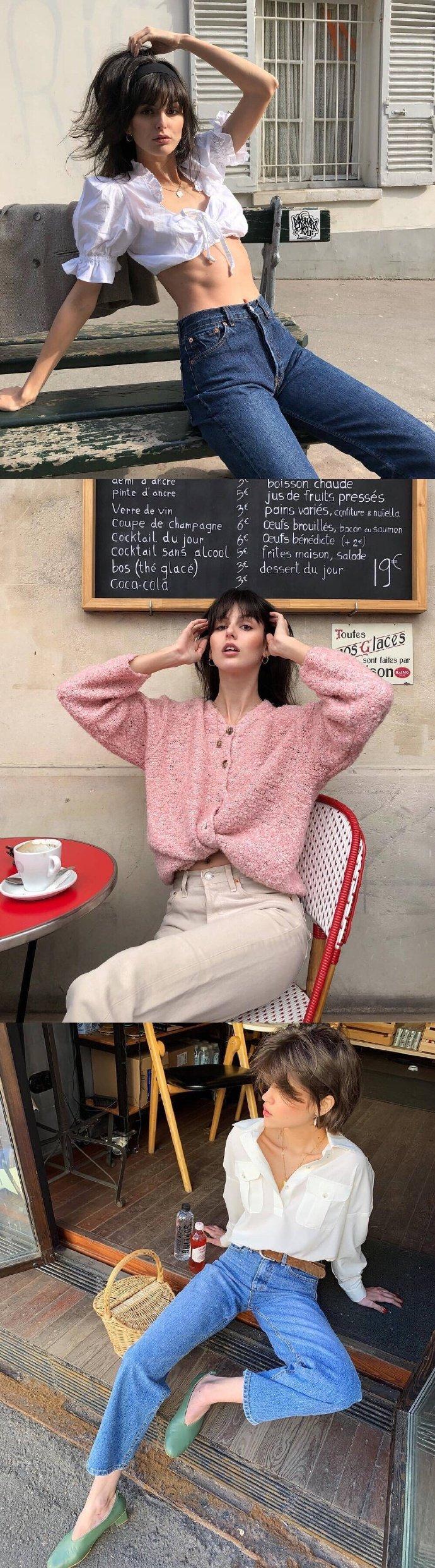 法国博主的私服日常舒适浪漫的法式风情穿搭合集