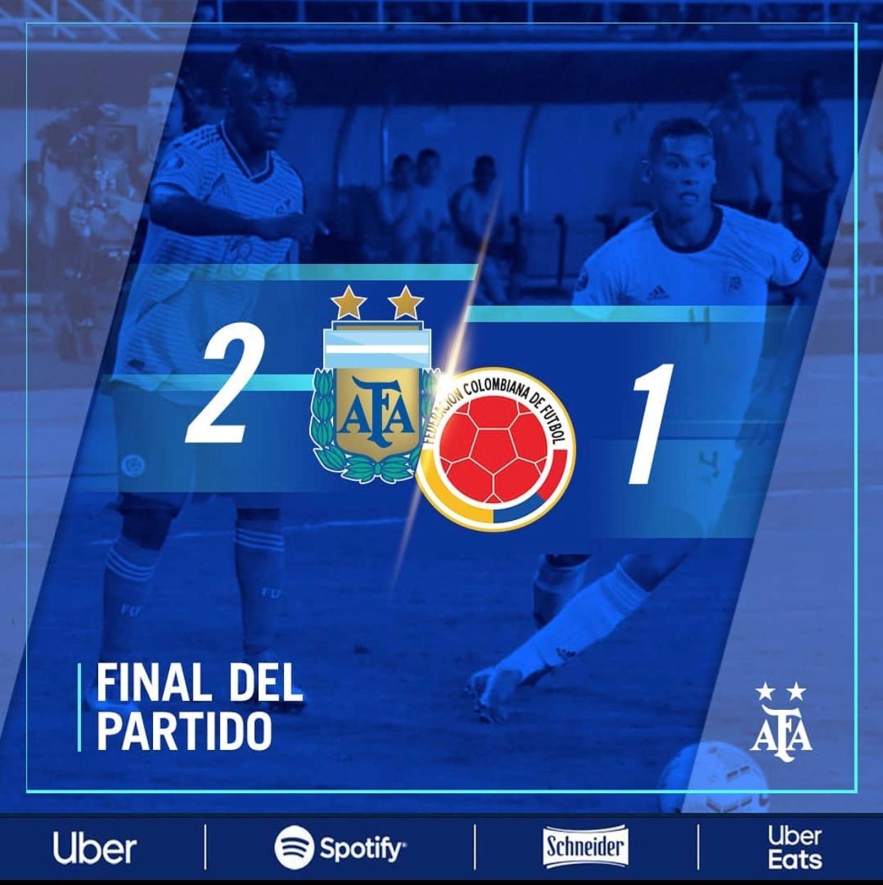 刚刚结束的奥运会预赛首战,阿根廷2:1东道主哥伦比亚