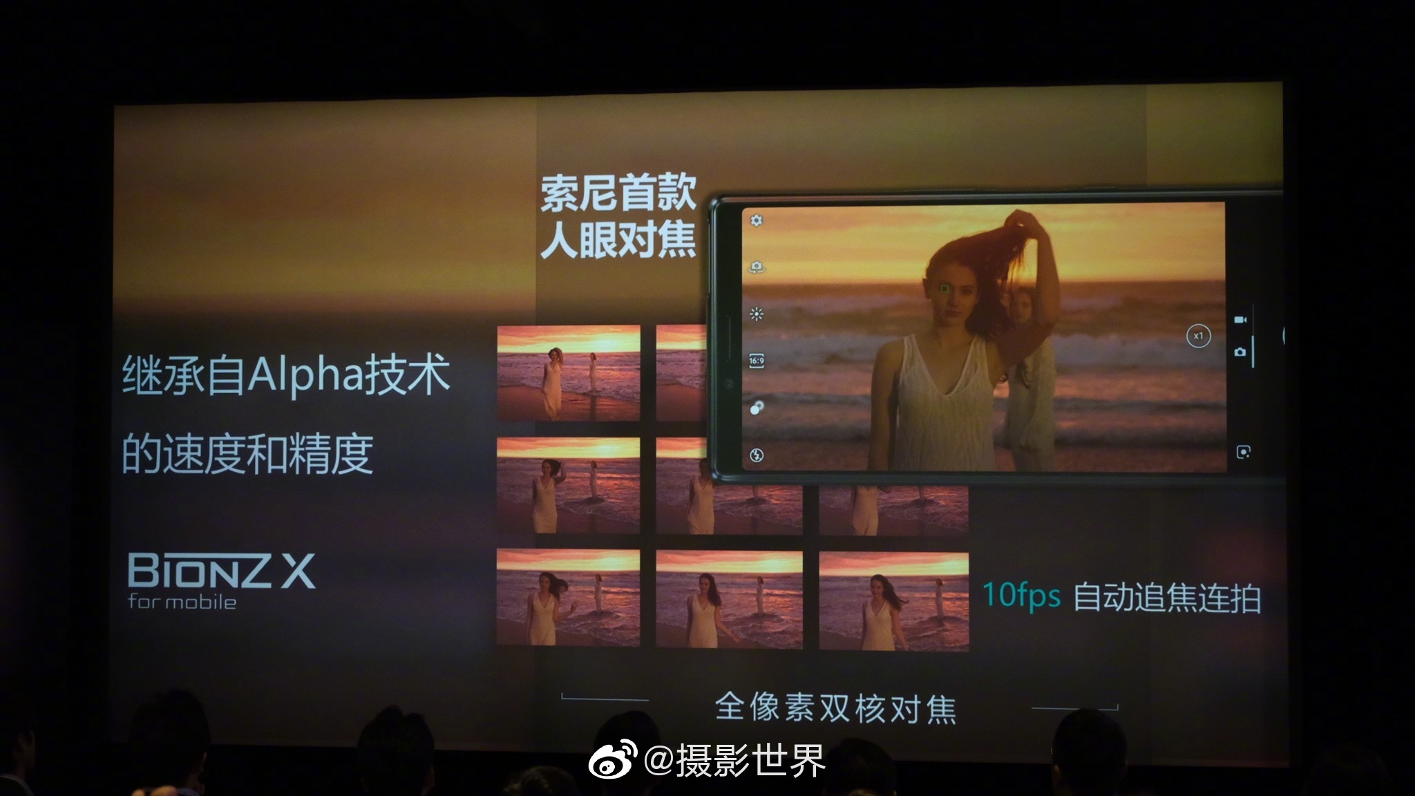 今天,索尼手机在索尼影像学院发布了其新旗舰机型 Xperia 1