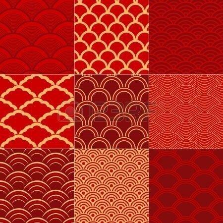 红红火火 中国风图案设计