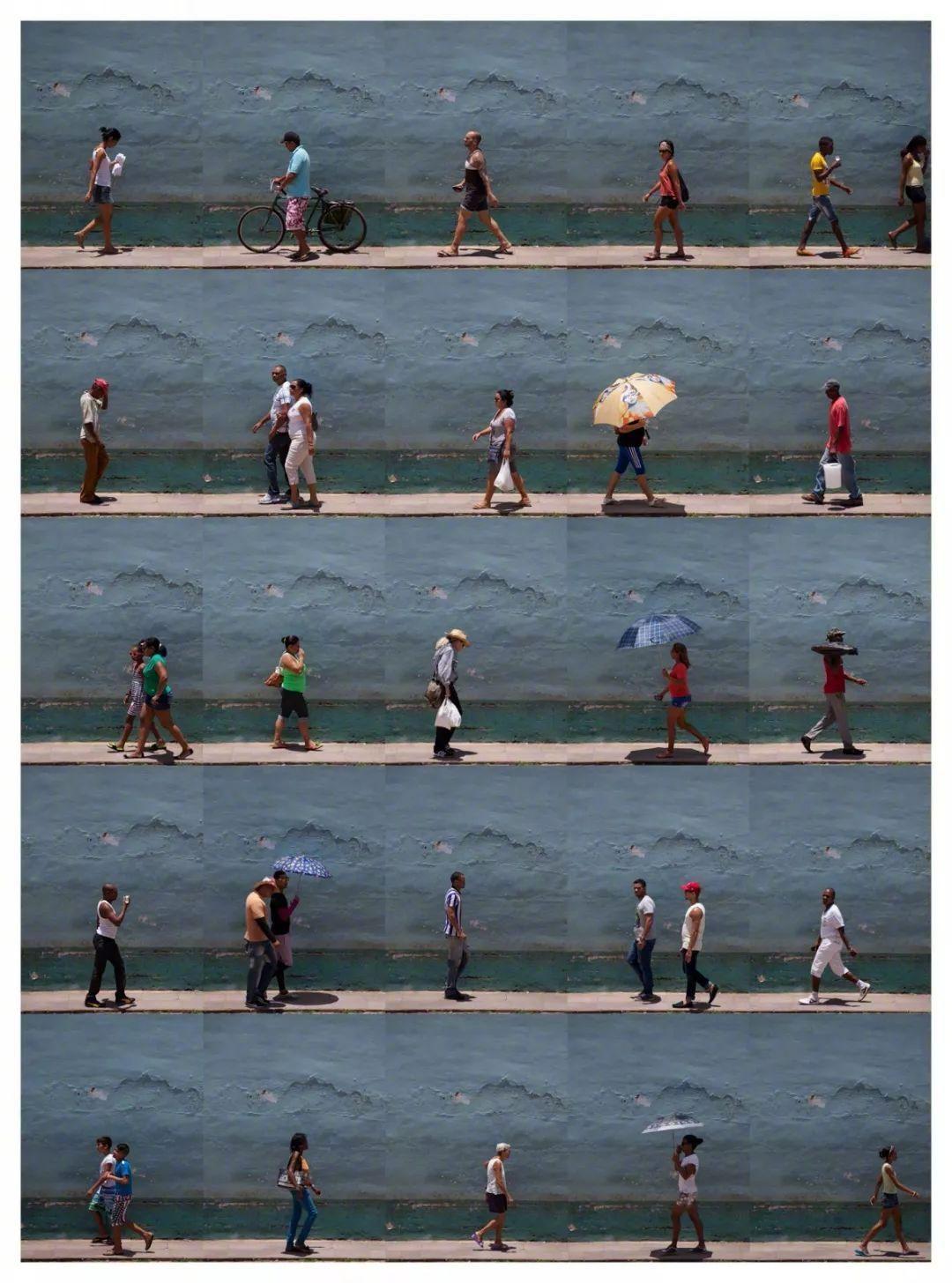 同一个地点,不同的人,by西班牙摄影师 Xan Padrón