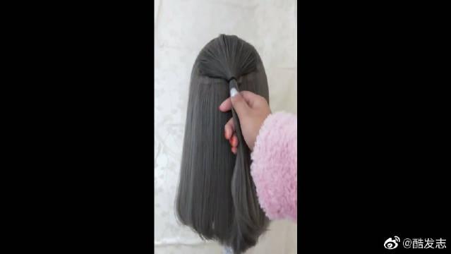 推荐一款适合穿裙子的扎发,很显气质,你喜欢吗?