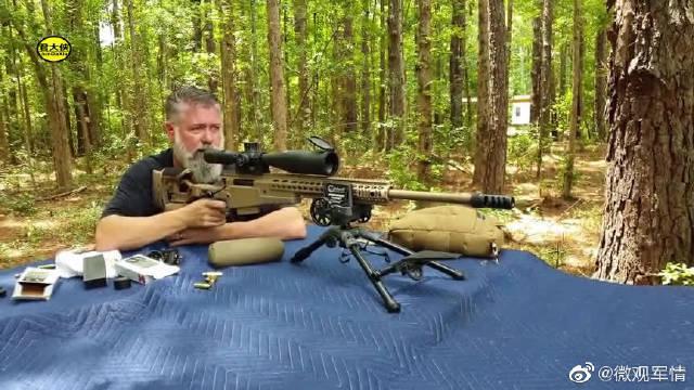 狙击步枪远程射击,棕色的外观充满了战术味道,越看越喜欢!