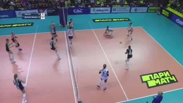 2019-2020赛季俄罗斯女排超级联赛第三轮,喀山迪纳摩3-0普洛通