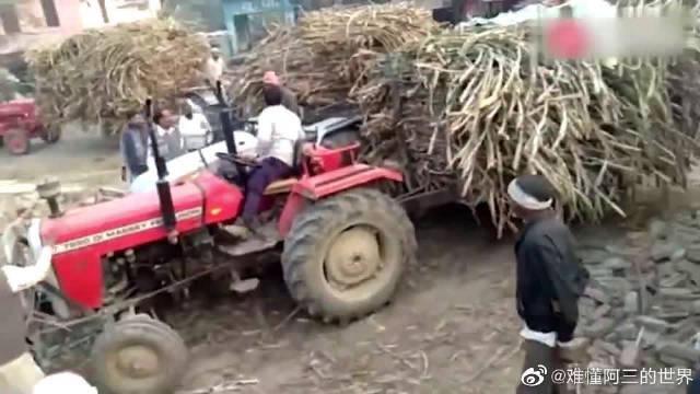 印度卖甘蔗,弄不好就会开拖拉机干起来!