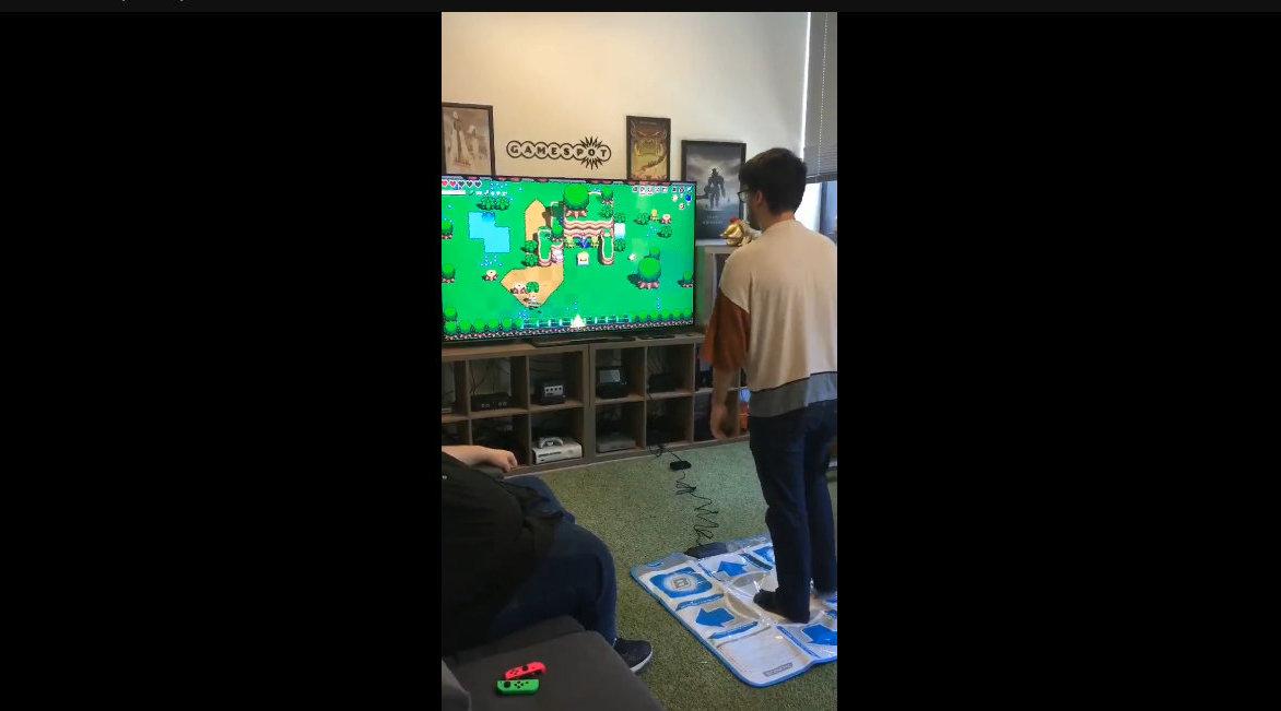 GameSpot员工挑战用GameCube跳舞毯来玩《节奏海拉鲁》