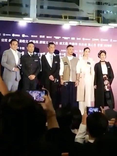 在电影《犯罪现场》香港首映礼上