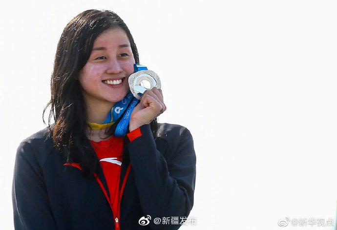 祝贺!中国选手在世界沙滩运动会女子公开水域5公里夺银