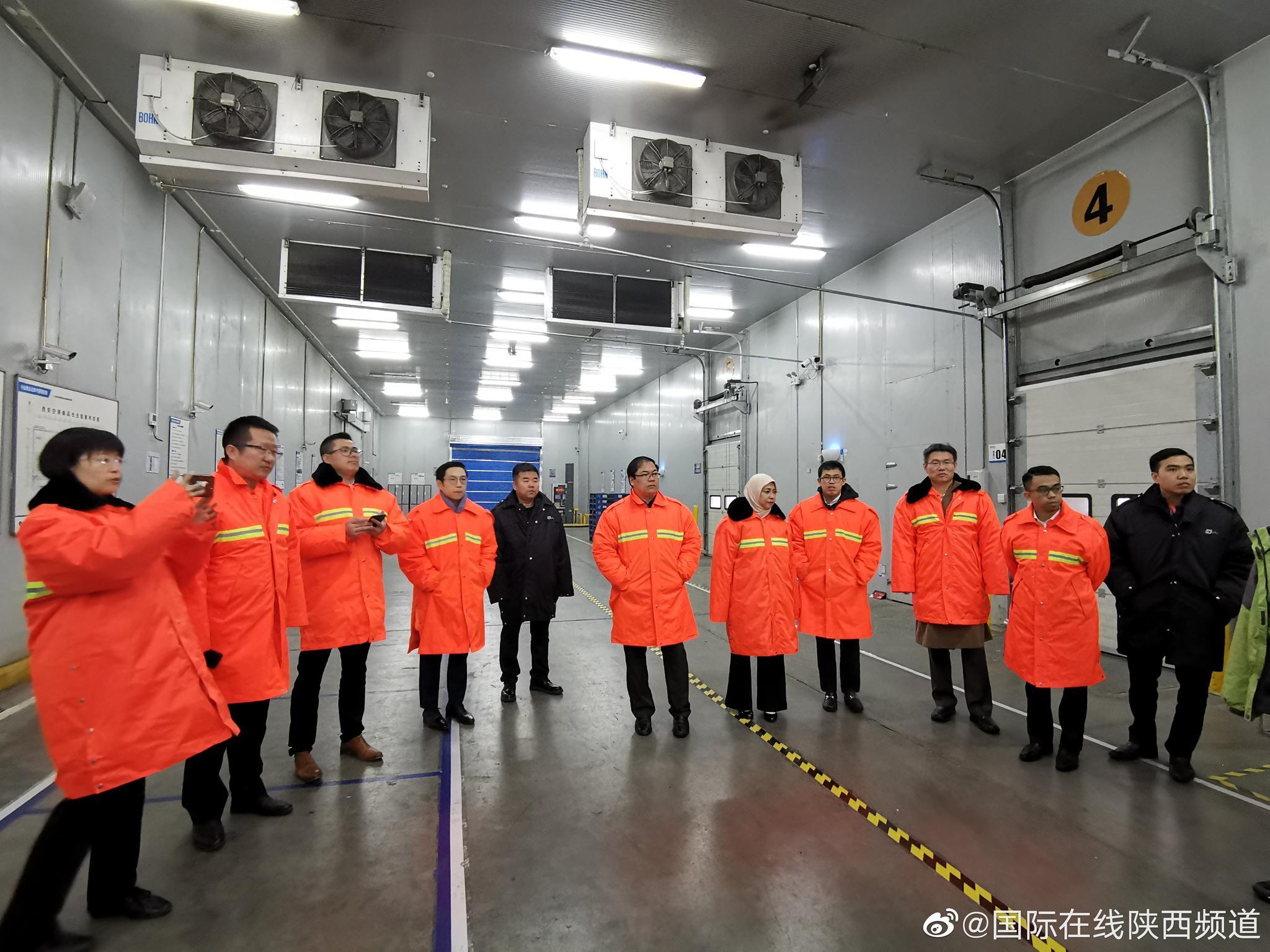 驻华使节走进顺丰速运 参访冷链物流工厂