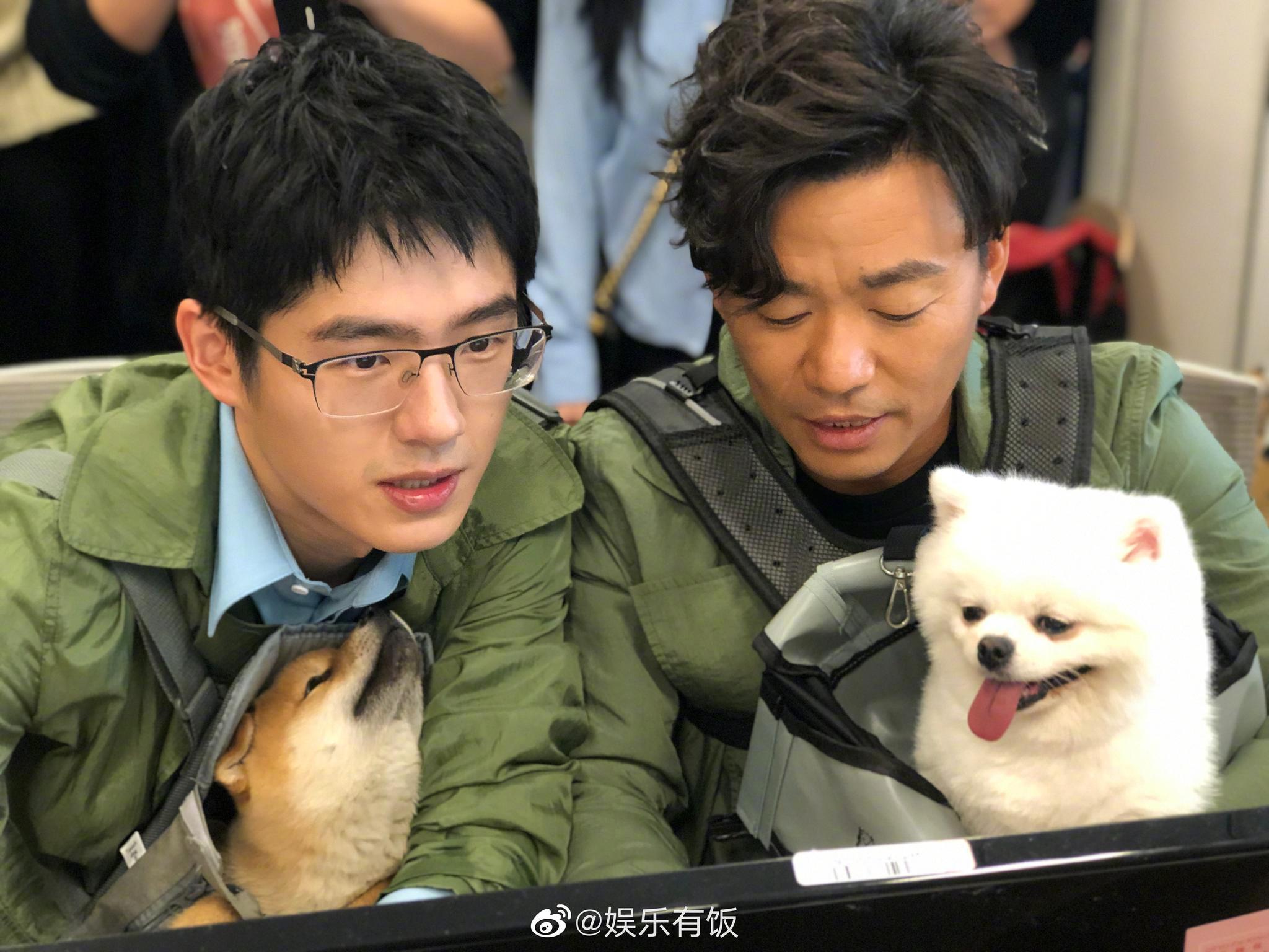 王宝强、刘昊然今天来新浪娱乐直播扫楼,人气太旺