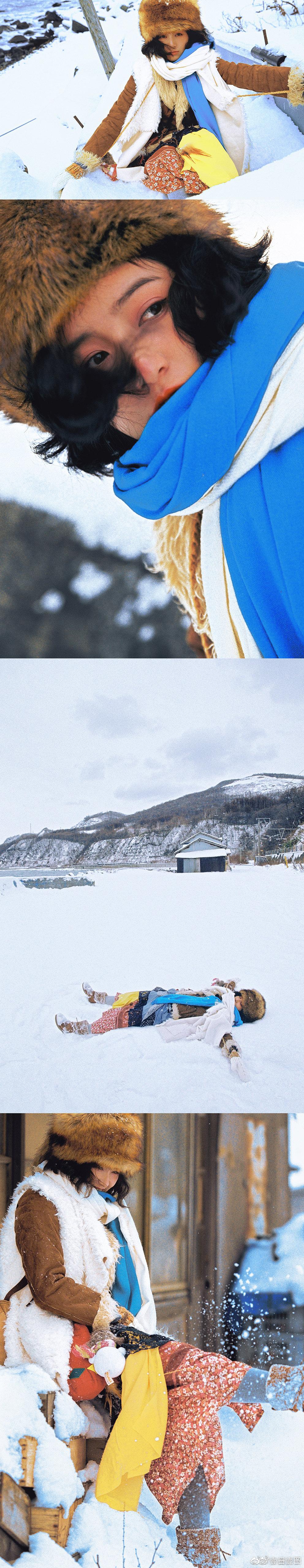 雪中七月.摄主:@盛浈予 @黄七月Hyut