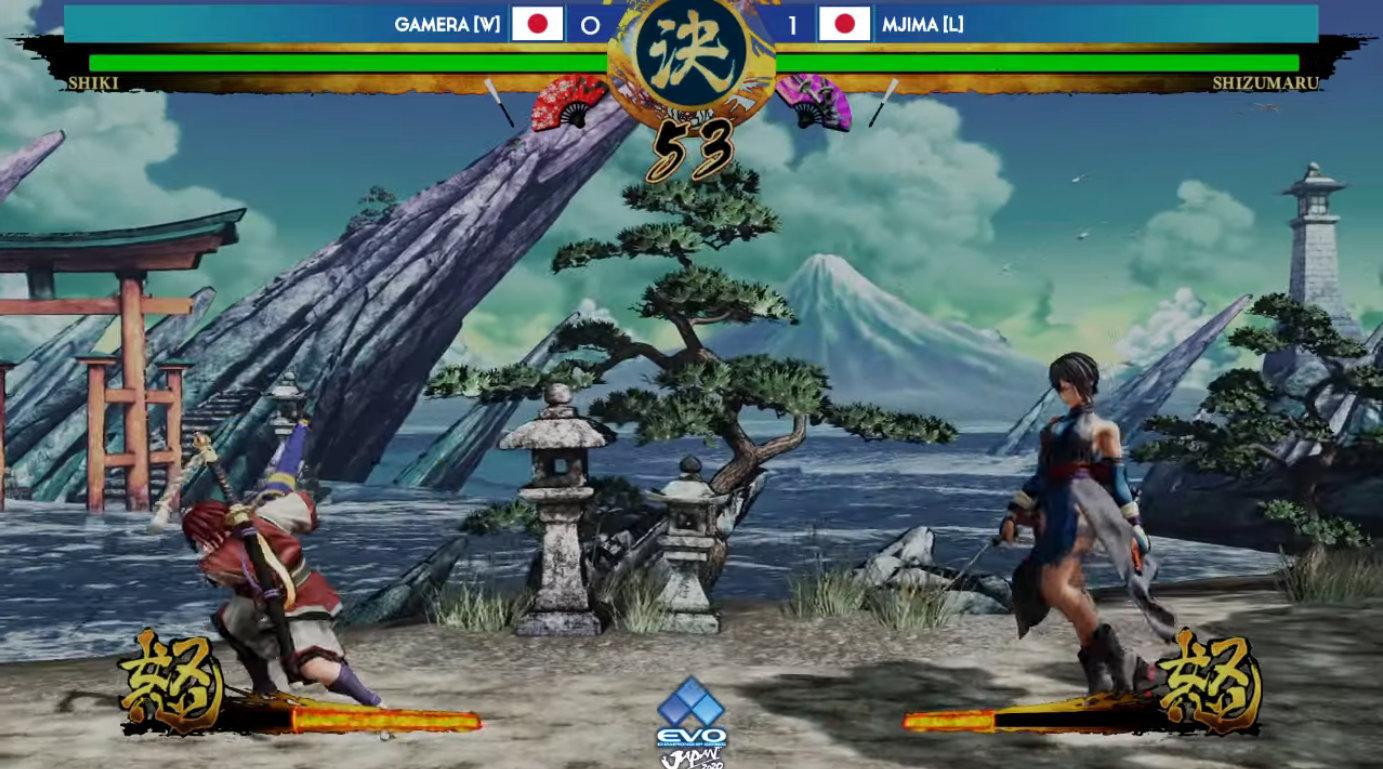 EVO Japan 2020 《侍魂 晓》决赛视频,Gamera (色) vs