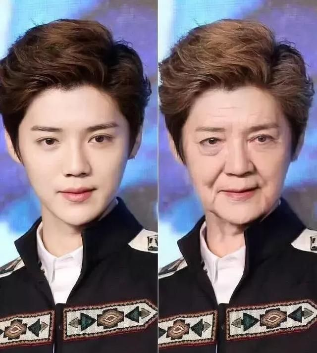 明星的老年妆,周杰伦有型,黄晓明沧桑,千玺鹿晗却像慈祥奶奶