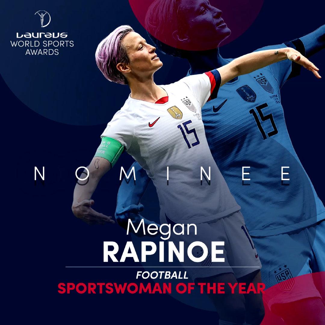 年度最佳女运动员提名名单包括FIFA女子世界杯金球奖@FIFA世界杯 金靴