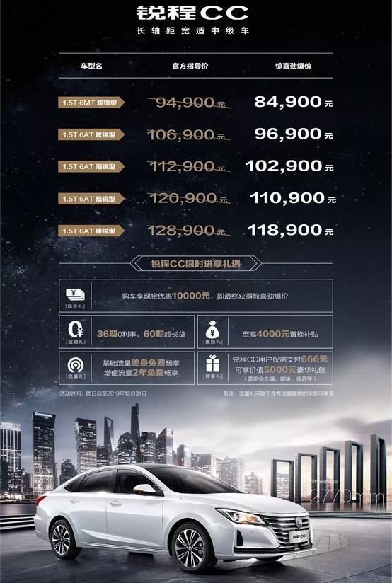 直接放杀招!8.49万元的中级轿车你敢想吗?