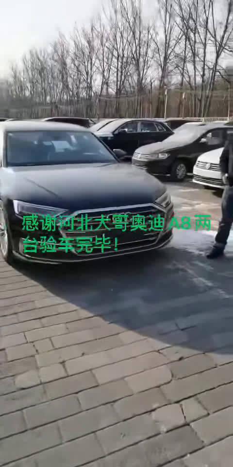 视频:感谢大哥支持,奥迪A8两台验车完毕