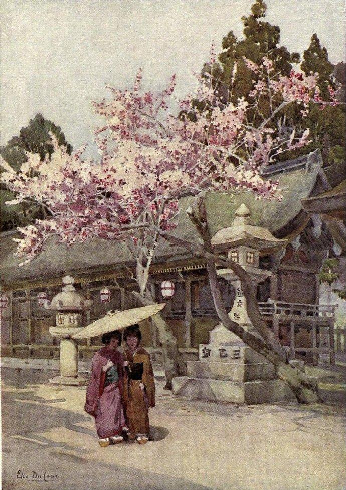 1908年的日本园林 | 艺术家Ella Du Cane
