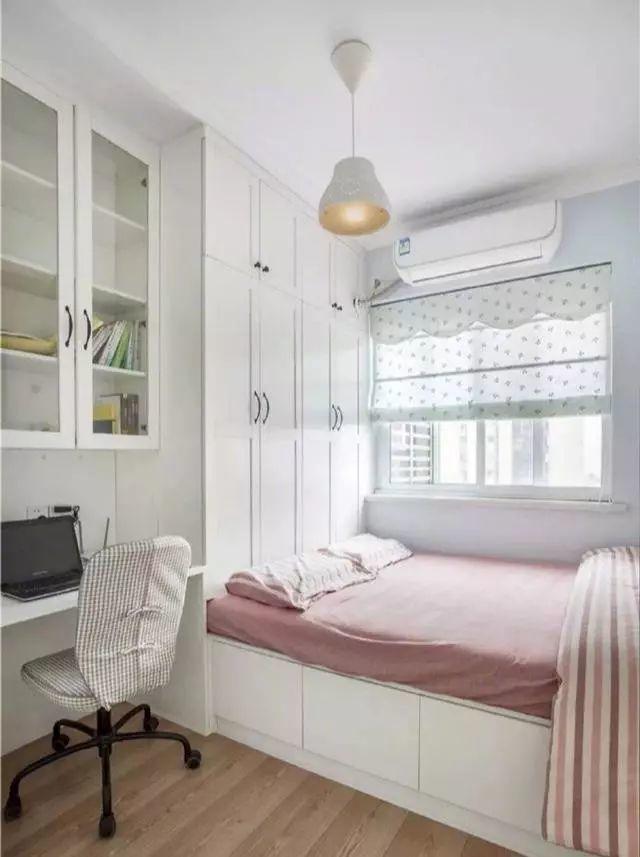 13款榻榻米 衣柜 书桌效果图,次卧就该这么装,一房兼两房
