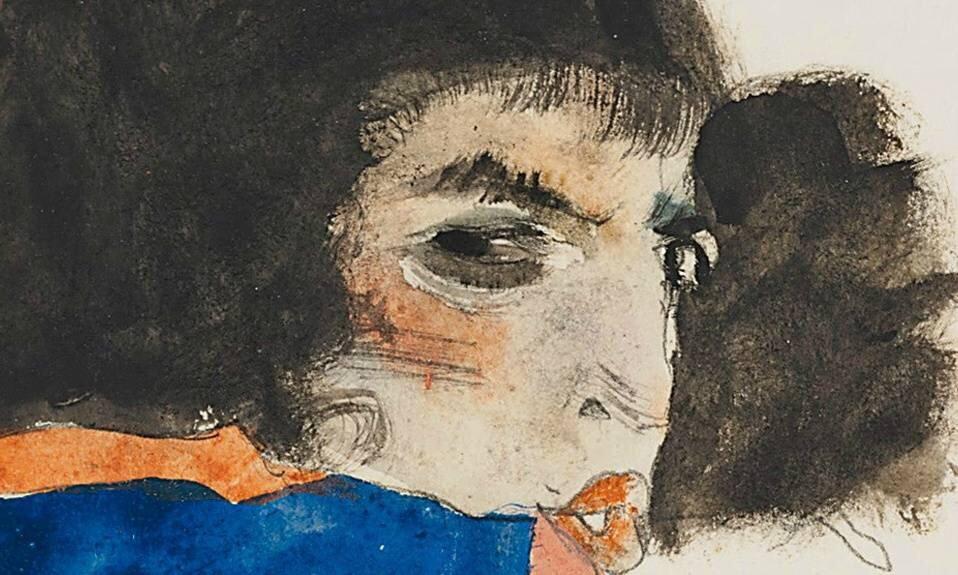 席勒的画作线条富于表现力