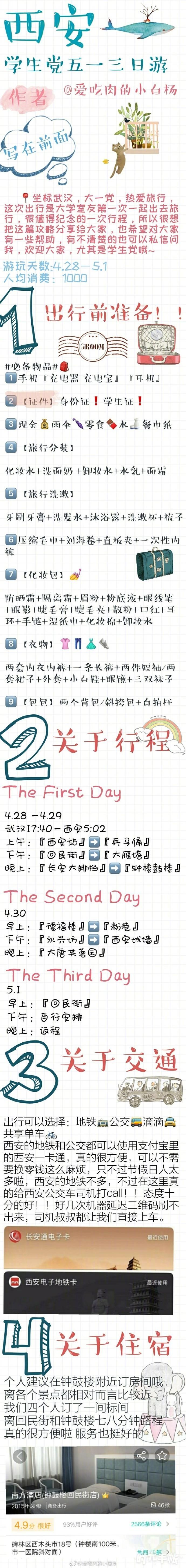 学生党西安三日游