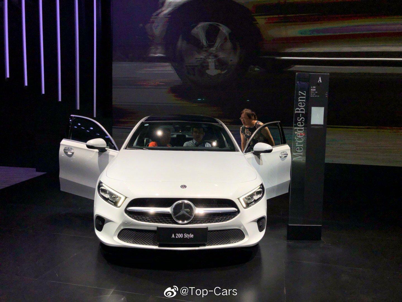 长春车展看到全新上市的梅赛德斯-奔驰A级车,进口身份