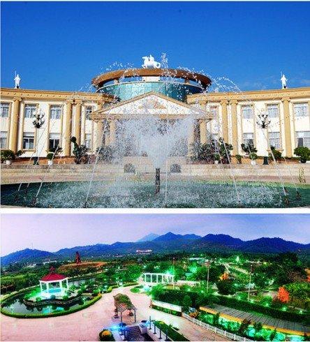 汕头莲花山温泉度假村位于澄海、潮州、饶平三地交界的莲花山南麓