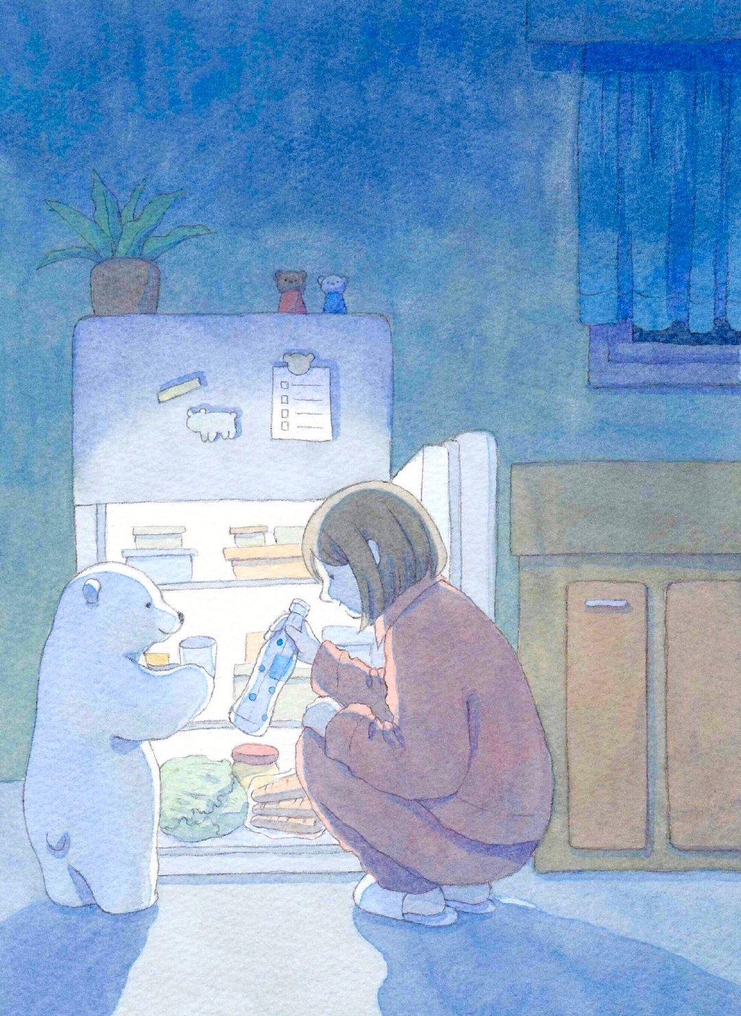 和白熊做朋友吧~画师:しろさめ 插