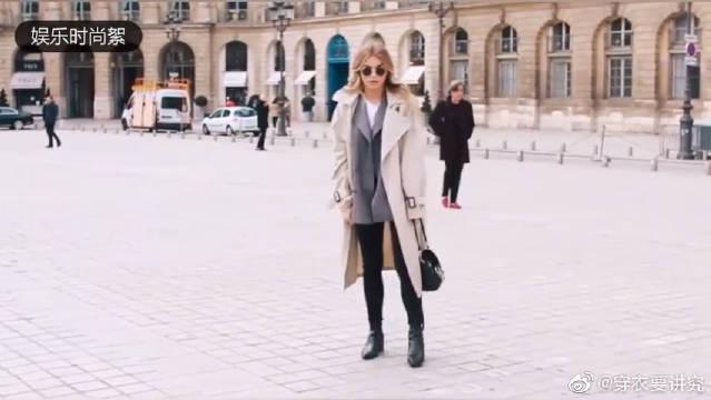 街拍欧美时尚达人百变穿搭秀,初冬长款风衣搭配,一套比一套好看。