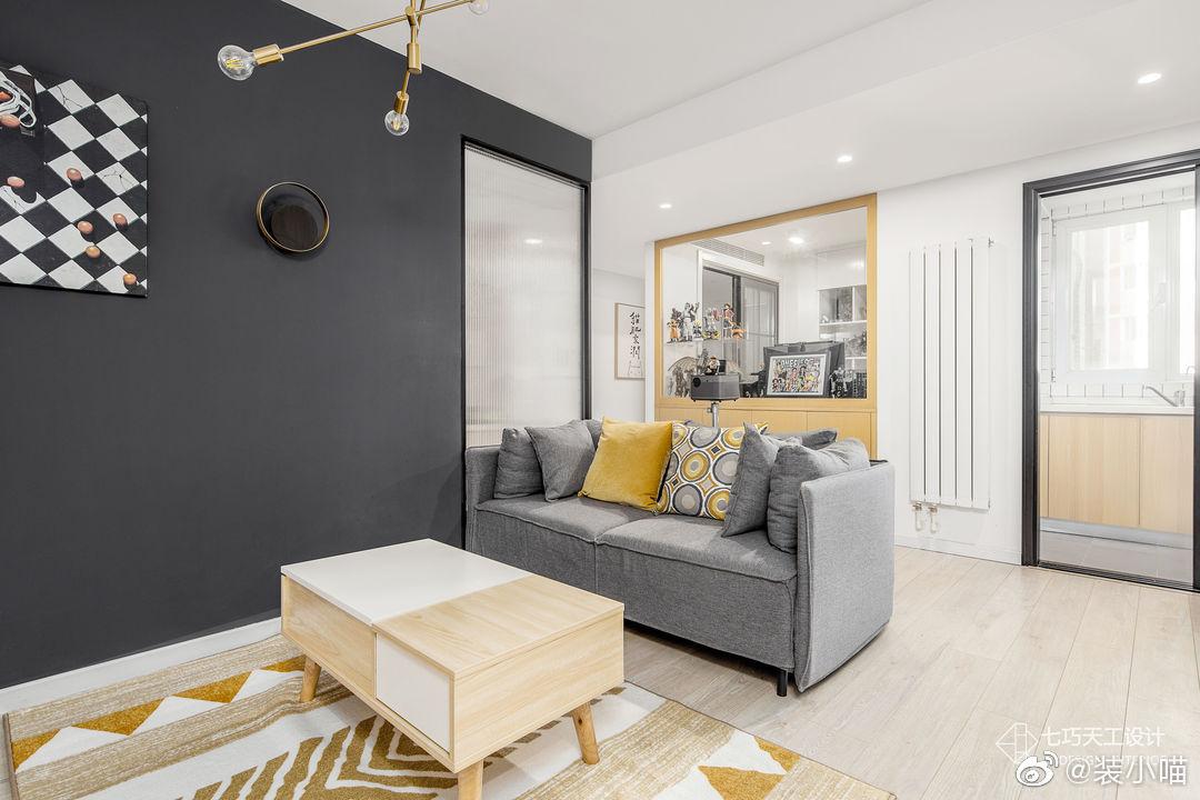 万年潮流黑白配打造素颜感新家,55平无个性不生活 / 七巧天工设计