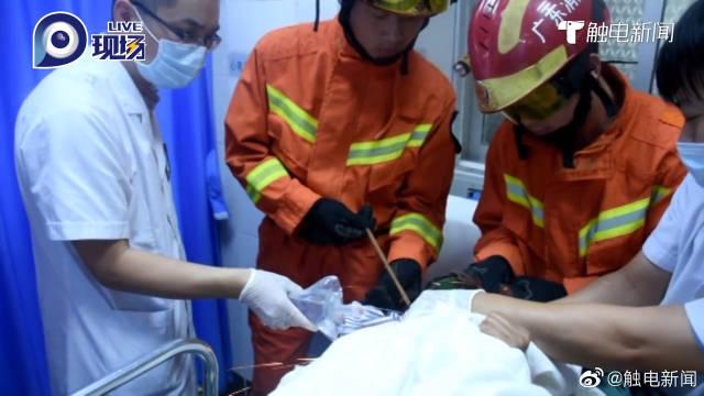惊险!茂名一建筑工人被钢筋穿头,消防登上手术台救援