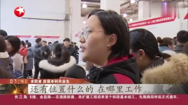上海2020应届高校毕业生首场招聘会启动,本科学历要求占近67%