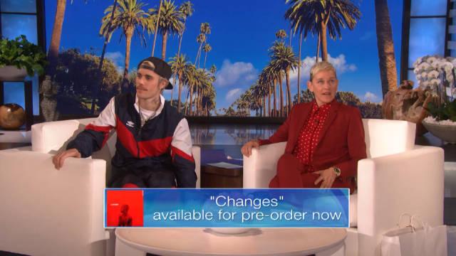 作客最新一期Ellen秀宣布将发行自己的新专辑Changes