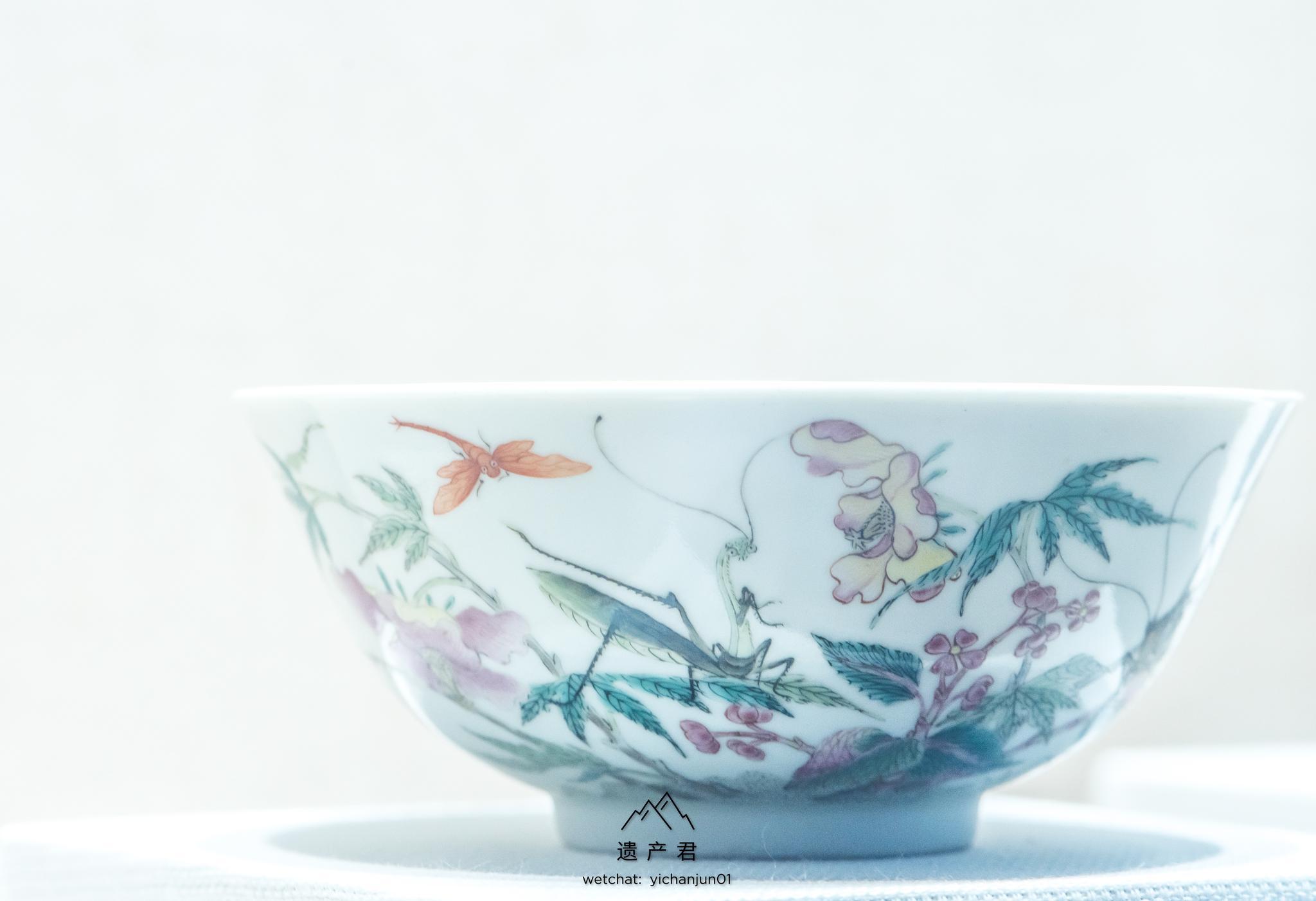 浙江省博物馆藏·清道光官窑粉彩花卉草虫纹碗