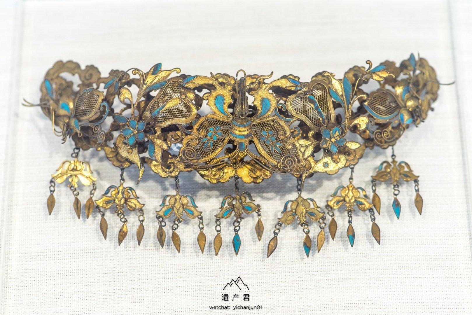 锦州市博物馆藏·清代银鎏金头饰