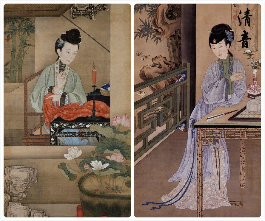 《十二美人图》,藏于北京故宫博物院