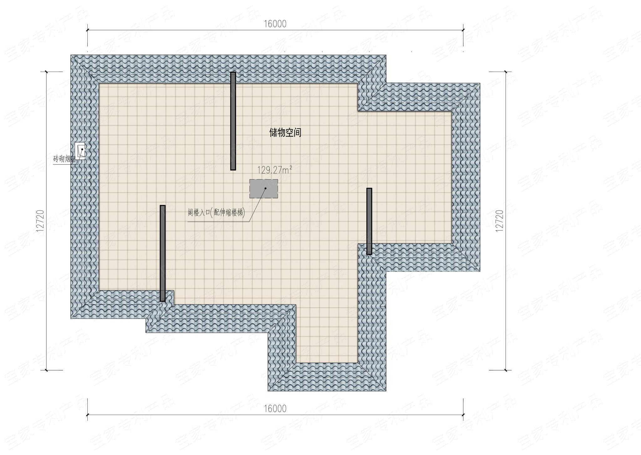 户型二,欧式经典乡村别墅 别墅基本信息: 开间:16米 进深:12.