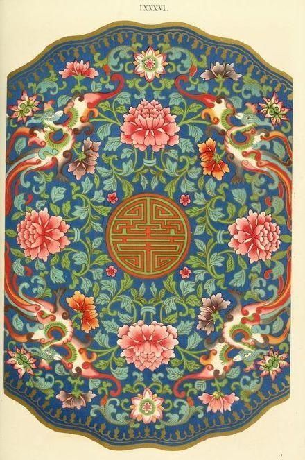 150年前英国设计师Owen Jones绘制的中国纹饰