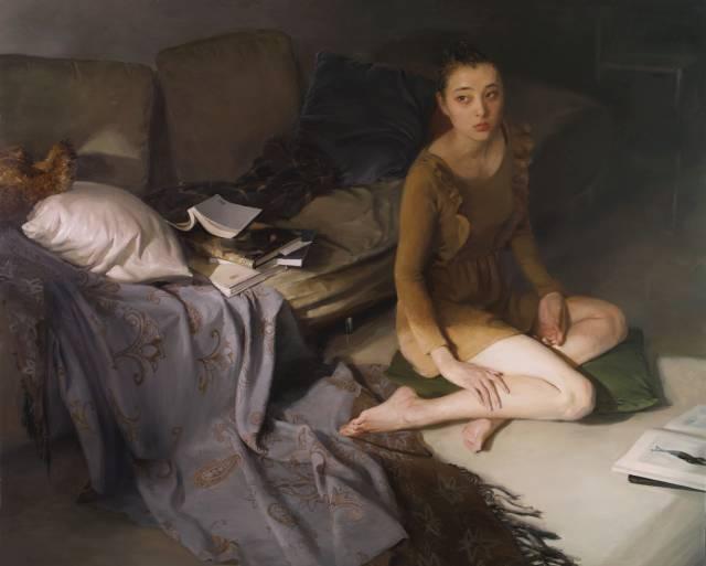 女性画家画女性,作品中的细腻心思,男画家绝对画不出来