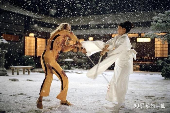刘玉玲在《杀死比尔》中饰演杀手石井尾莲,残忍却彬彬有礼