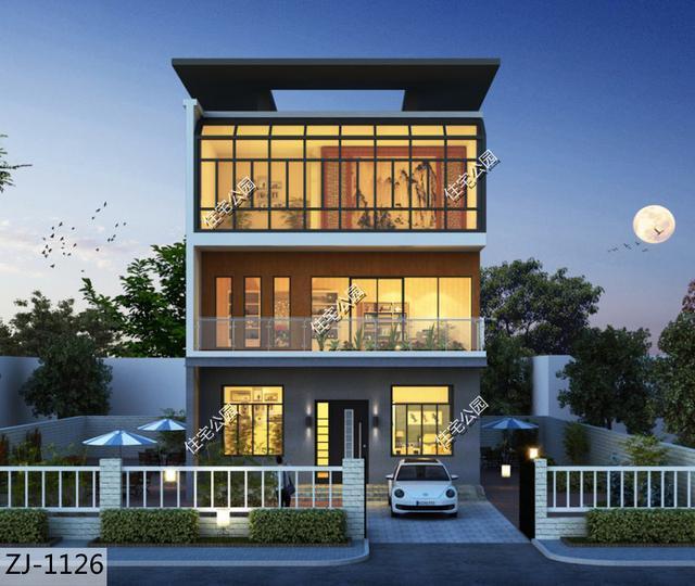 9米面宽的房子还想要全明格局?农村养老房这样设计就挺好