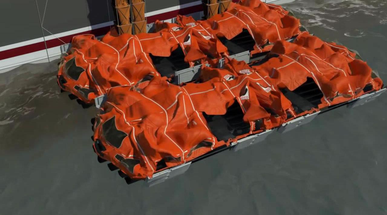 Viking公司推出了一个新型救生筏系统,不仅占地小