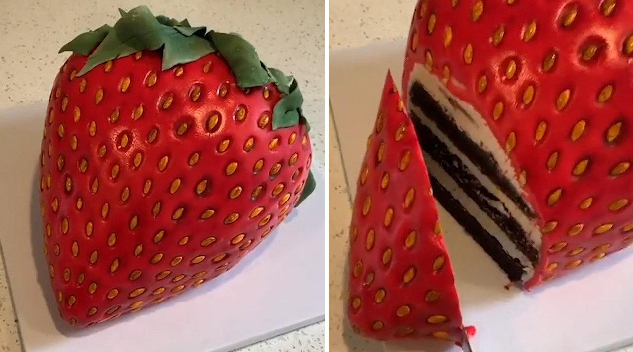 美国新泽西州23岁的年轻小伙卢克·文森蒂尼是一位蛋糕艺术家