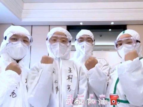 """河北民兵""""五朵金花"""",绽放在武汉方舱医院"""
