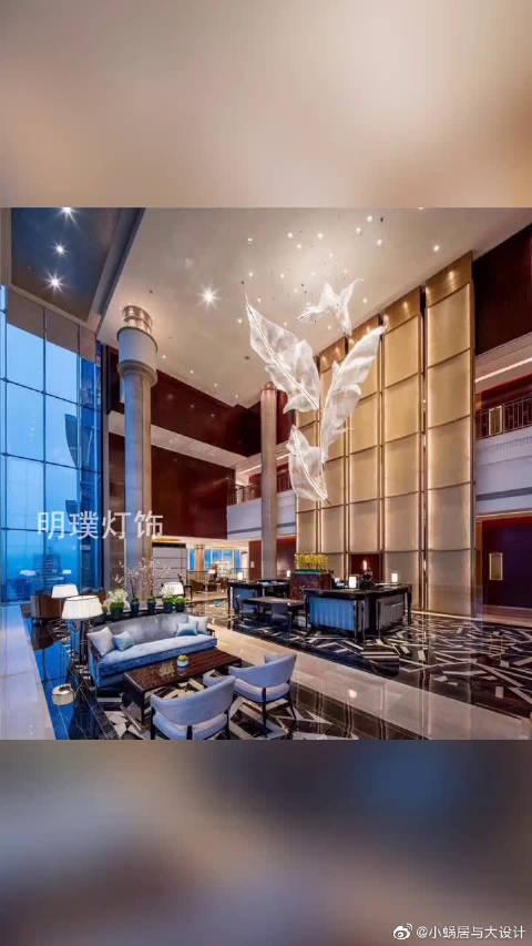 酒店灯具定制,工程灯具装修效果图