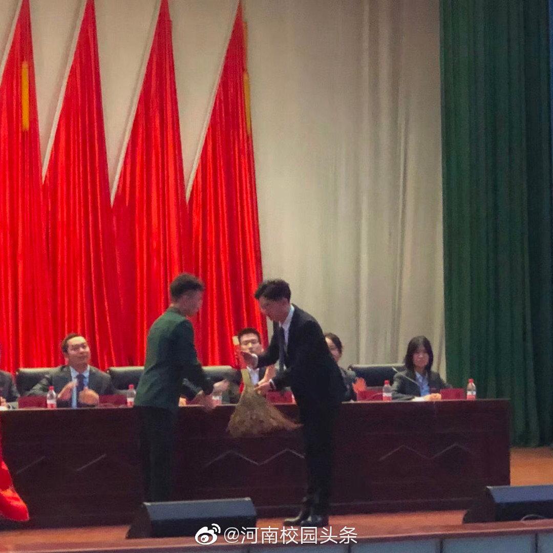 郑州商学院劳动教育交接仪式