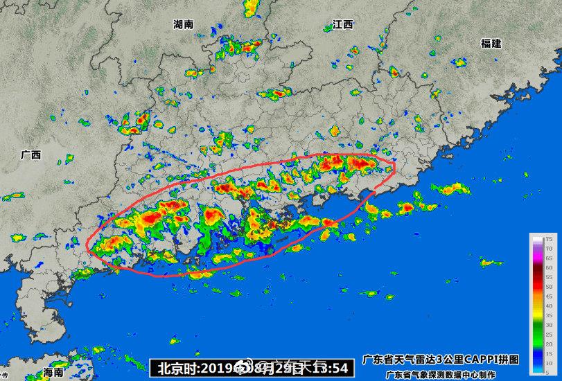14时气温实况,受降水影响,珠江口及西侧气温大都在30℃以下