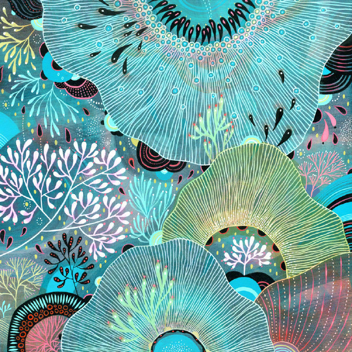 波特兰艺术家 Yellena James 绘画作品