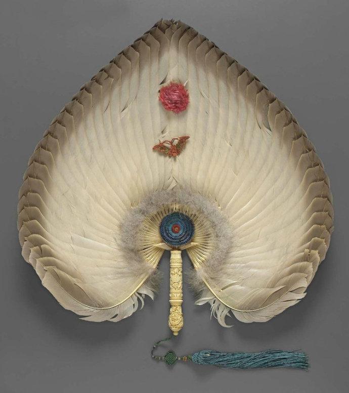 波士顿博物馆馆藏的中国羽扇,超级好看!