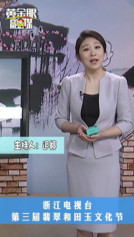 浙江电视台翡翠玉石文化节既主持人见面会—迟婷