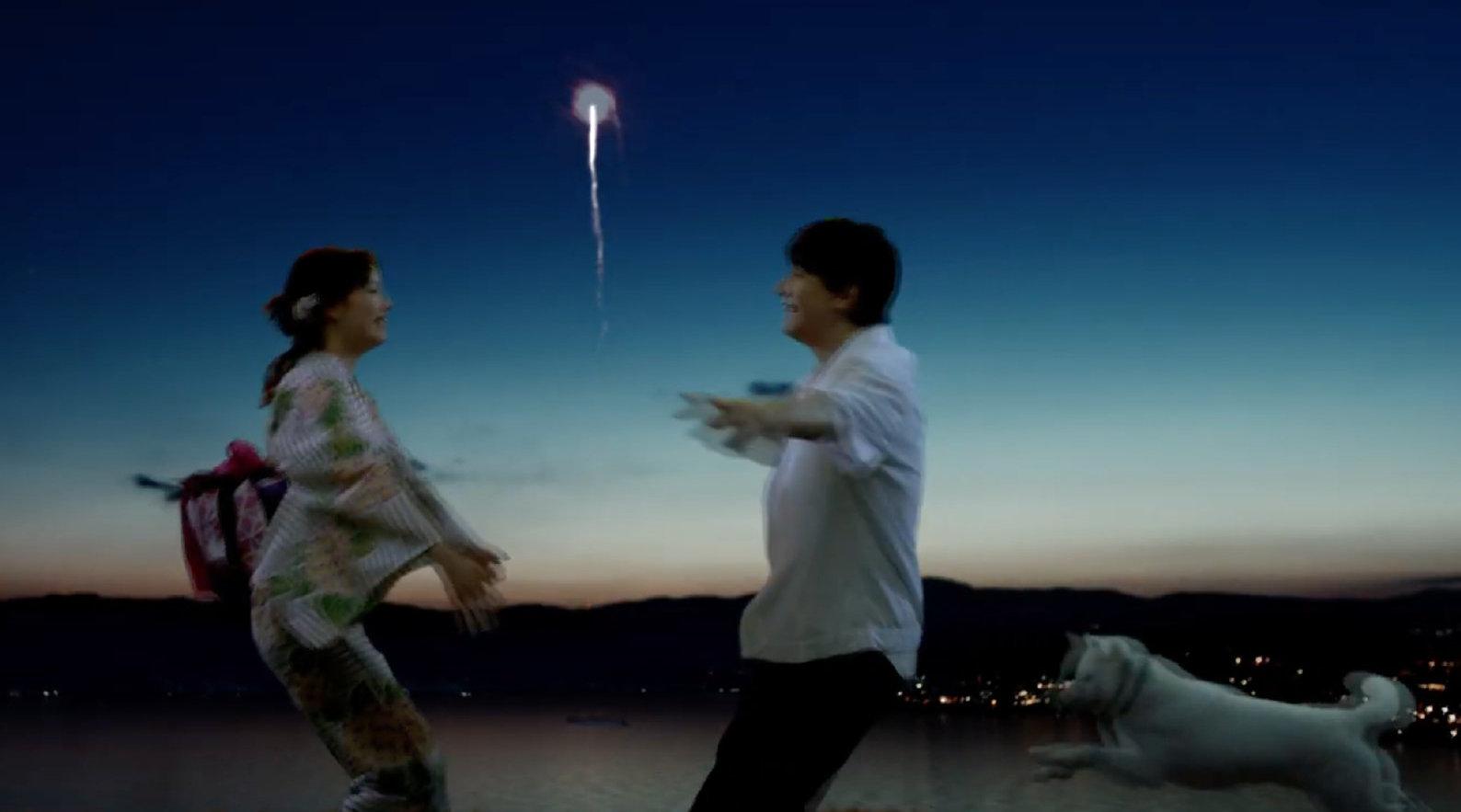 吉泽亮和广濑铃为softbank出演CM。夏日祭,烟火大会为舞台背景